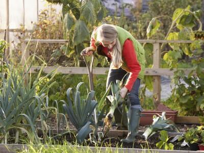 Frau in Garten