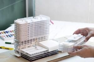 Modell von Immobilie